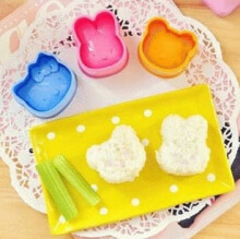 Cute baby Cetakan Nasi Rice Mold Bento Tools 3 in 1 set Hello Kitty bear bunny