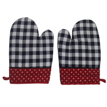 ARNOLD CARDEN Oven Mitts Kotak Othello - Black/Red 19x32cm ( 1 pasang kanan-kiri)
