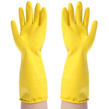 【Jingdong Supermarket】 Accor wash gloves lengthened household gloves rubber leather gloves