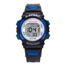 BESSKY Waterproof Children Boys Digital LED Sports Watch Kids Alarm Date Watch Gift_