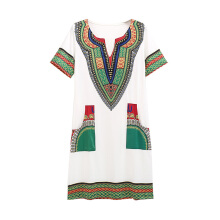 SiYing Explosive models tight ethnic style printed women's dress