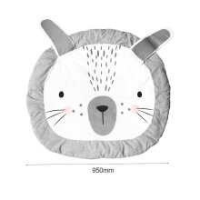 [OUTAD] Crawl Rug Lovely Rabbit Shape Playing Crawling Mat Children Room Decorate Mat Grey
