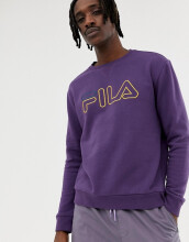 Fila Black Line Basil Sweatshirt With Logo In Purple