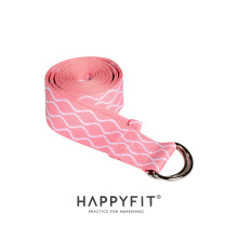 HAPPYFIT YOGA BELT/YOGA STRAP Pink