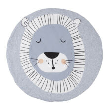 ANAK Baby Thick Round Soft Play Mat Infant Cotton Cushion Kids Seat Pad Floor Rug Lion Grey