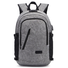 05088f6ad4c769 Men Bag Anti theft Backpack Knapsack Coded Lock USB Interface Laptop  Rucksack
