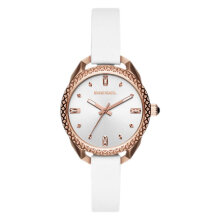 Diesel Timeframe DZ5546 Ladies Silver Dial White Leather Strap [DZ5546]