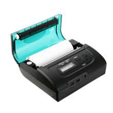 AOSEN ZJ - 8002 Portable 80mm Bluetooth 2.0 Mini Thermal POS Printer Black EU Plug