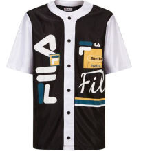 FILA Men's Brantley Baseball Shirt  Black & White S,M,L & XL