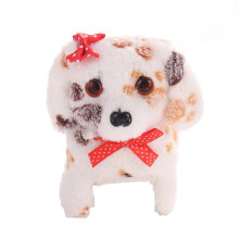 [COZIME] Cute Animal Toy Electric Walking Barking Plush Dog Toy White1