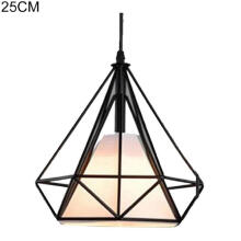 Farfi Retro Industrial Iron Diamond Chandelier Pendant Ceiling Lamp Hanging Decoration
