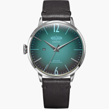 WELDER Smoothy Black Strap Steel Case Color Turquoise Dial 45mm [WRC311]
