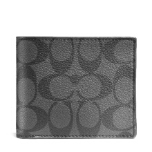 Coach Women's Men's Unisex Black Short Wallet F74993CQBK