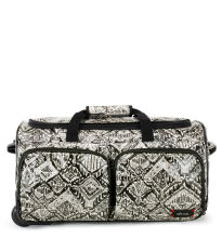 Sakroots Rolling Duffle Travel Bag Jet Brave Beauti
