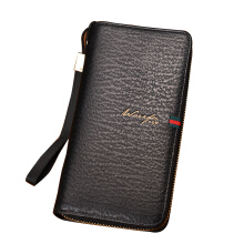 SiYing high quality leather men's long zipper handbag wallet