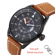NAVIFORCE Quartz Watch Sport Military Watches Fashion Men Luxury Brand Leather Strap Men Clock