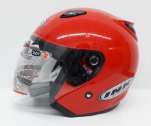 INK Centro Helm Half Face - Merah Metalik Red M