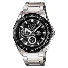 Casio Edifice EF-336DB-1A1VUDF Water Resistant 100M Black Pattern Dial Stainless Steel [EF-336DB-1A1VUDF]
