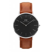 Daniel Wellington Classic Black Durham 40mm Silver Case