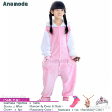 Anamode Size 100~140 Kids Cartoon Clothes Parent-Child Homewear Siamese Pajamas Suit -Cute Cat -