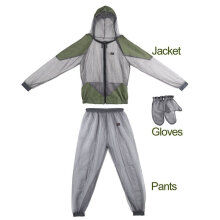 OUTAD Outdoor Lightweight Anti-Mosquito Suit Portable High Density Net Yarn Dark Green M