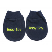 Cribcot Sarung Tangan Baby Boy - Navy Blue Light Green