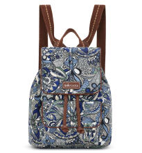 Sakroots Mini Flap Backpack Blue Steel Spirit Desert