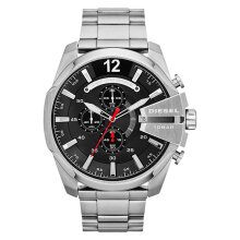 Diesel DZ4308 Mega Chief Analog Men Black Dial Stainless Steel [DZ4308]