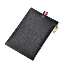 AIM Q226 Simple large-capacity clutch bag leather envelope bag male hand bag holder bag-Black