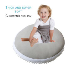 [OUTAD] Thickened Round Play Pad Crawling Mat Soft Sleeping Mat for Toddlers Kids Grey