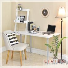 LIVIEN FURNITURE -  Meja kerja - Meja Belajar - Lucas Office Table White