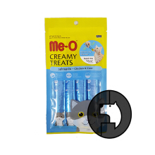Me-O Creamy Treats 15 Gr X 4 Cat Chicken And Liver
