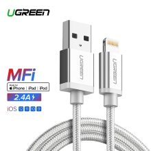 UGREEN 2Meters Lightning Cable for Apple iPhone 7/7Plus/6s/6Plus/8 iPad iPad mini, Lightning to USB Data Sync Cable -Silver