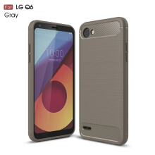 RockWolf LG Q6/Q6 PLUS case Brushed carbon fiber silicone anti-fall soft shell