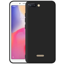 TM Case Slim Mate Case for Xiaomi Redmi 6A (5.0 inch) 2017 Non Finger Casing Matte Anti Finger Print Black