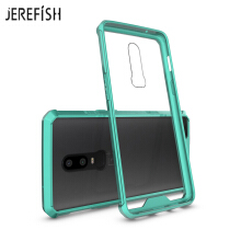 JEREFISH One Plus 6 Phone Case Shock-Absorption Bumper Style Premium Hybrid Protective Clear Cover