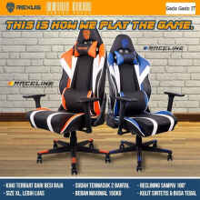 Rexus Kursi Komputer Pc Gaming Chair Raceline Rc1 / Rc-1 Kursi Gaming - Biru