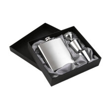 [kingstore] 7oz Stainless Steel Pocket Hip Flask Funnel Cups Set Drink Bottle Gift Silver