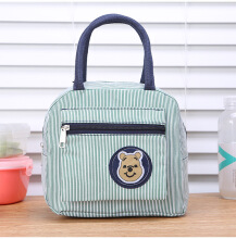 KENESS Trendy Japanese cute bear canvas bag out handbag handbag lunch bag Mummy small Mummy
