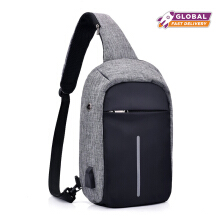 KINO SL1 Sling Bag Anti Maling Anti Air Tas Pria USB Charger Bodypack Best Seller Premium Quality