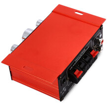 MA - 170 Mini 12V 20W Hi-Fi Stereo Amplifier Booster DVD MP3 Speaker for Car Motorcycle  Red