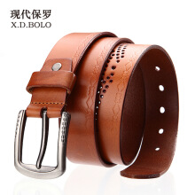 X.D.BOLO Original imported fashion men's belt 2018 new luxury pin buckle the first layer cowhide leather belt