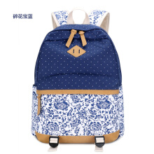 Keness New small floral ethnic wind backpack small fresh college wind high school students bag computer bag