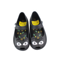 minihelisha Jelly shoes girl boy cat head children's shoes