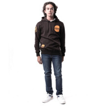 G-SHOP - MEN SWEATER JAKET HOODIES DISTRO PRIA - FHM 1267 - COKELAT SIZE- M
