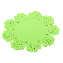 Anamode 4pc Silicone Insulation Mat Dining Table Rose Bowl Pad Cup Coasters -Randomly Color