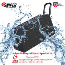 Sniper Waterproof Speaker Youla Y6 Black