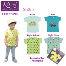 Kazel Tshirt Boy Burger Edition isi 4 Pcs