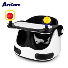 Real Bubee Aricare ACE1018 Panda Baby Seat Chair Detachable Tray Sliding Wheels WHITE