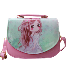SiYing cartoon bright leather shaping children's Messenger bag